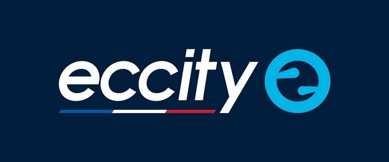 Logo eccity pour fond coloré