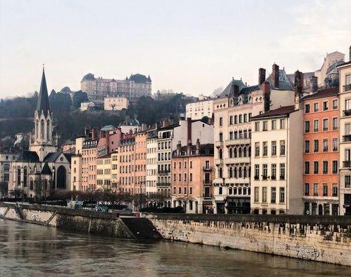 Les rives du Rhône, Lyon.